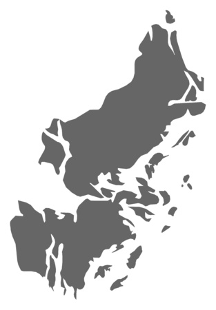 Map of Stockholm County, a province of Sweden.