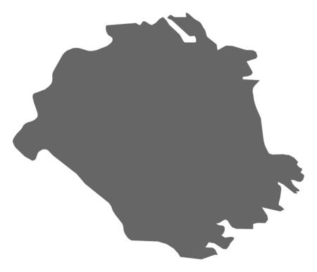 sverige: Map of S?dermanland County, a province of Sweden.