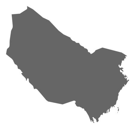 sverige: Map of V?sterbotten County, a province of Sweden. Illustration