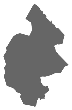 Map of J?mtland County, a province of Sweden.