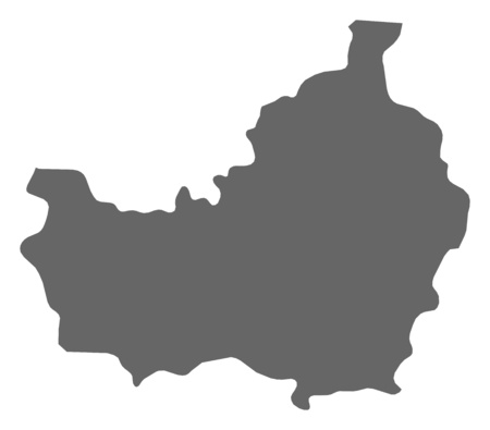 Map of Cluj, a province of Romania. Illustration