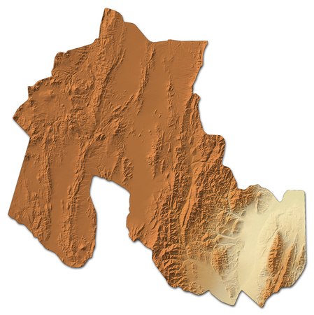 Relief map of Jujuy, a province of Argentina, with shaded relief.