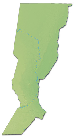 Relief map of Santa Fe, a province of Argentina, with shaded relief.