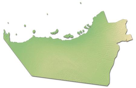 united arab emirate: Relief map of Abu Dhabi, a province of United Arab Emirates, with shaded relief.
