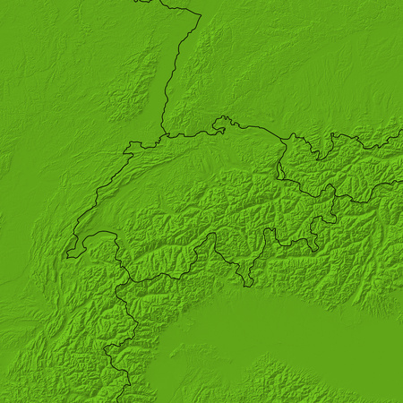 swizerland: Relief map of Swizerland and nearby countries.
