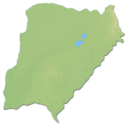 Relief map of Corrientes, a province of Argentina, with shaded relief.