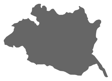 frontiers: Map of Evora, a province of Portugal.