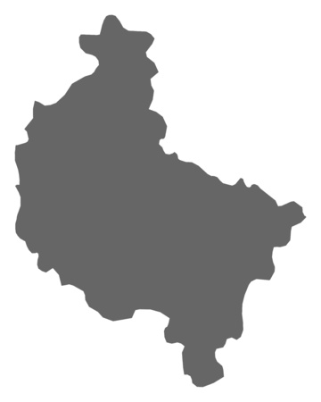 greater: Map of Greater Poland, a province of Poland. Illustration