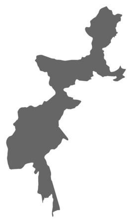 administered: Map of Federally Administered Tribal Areas, a province of Pakistan. Illustration