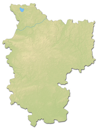 shaded: Relief map of Minsk, a province of Belarus, with shaded relief.