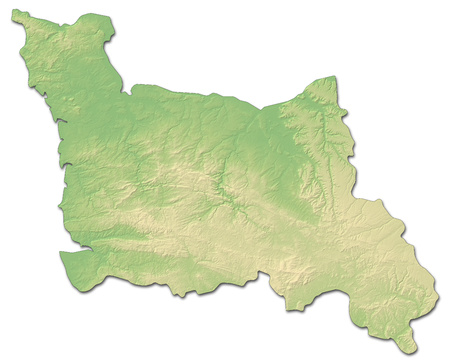 normandy: Relief map of Lower Normandy, a province of France, with shaded relief.