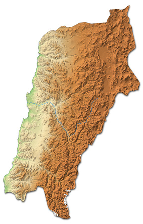 Relief map of Atacama, a province of Chile, with shaded relief. Stock Photo