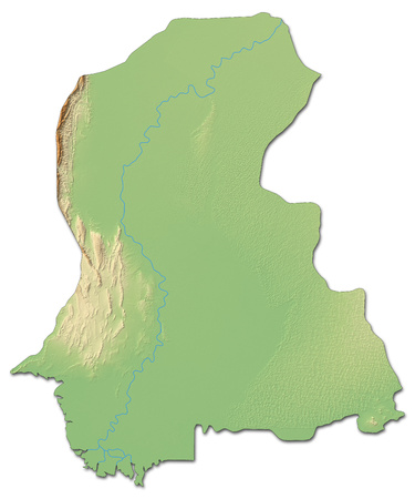 Relief map of Sindh, a province of Pakistan, with shaded relief.