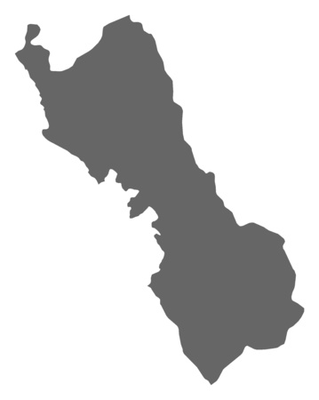 Map of Lima, a province of Peru. Illustration