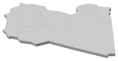 lybia: Map of Libya as a gray piece.