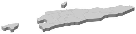 Map of East Timor as a gray piece.