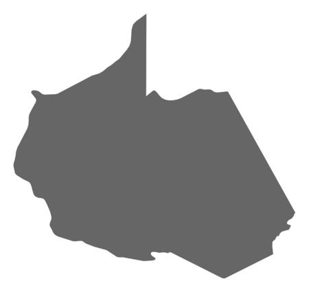mapa del peru: Mapa de Madre de Dios, una provincia del Perú.