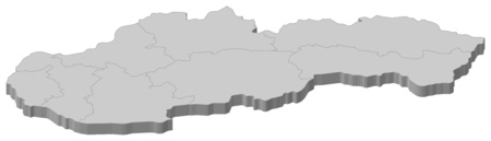 subdivisions: Map of Slovakia as a gray piece.
