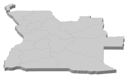 ngola: Map of Angola as a gray piece.