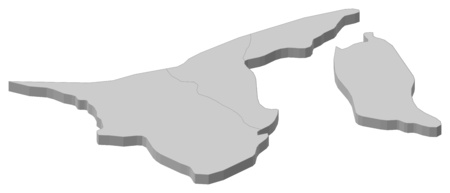 southeastern asia: Map of Brunei as a gray piece.
