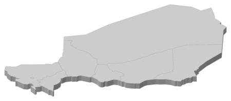 republique: Map of Niger as a gray piece.