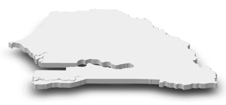 republique: Map of Senegal as a gray piece with shadow.