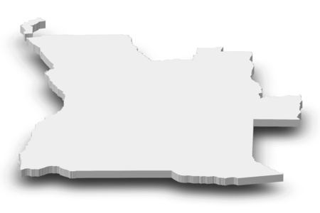 ngola: Map of Angola as a gray piece with shadow.