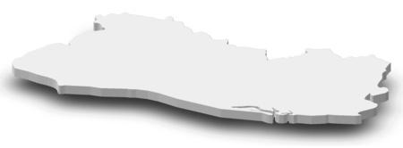mapa de el salvador: Map of El Salvador as a gray piece with shadow.