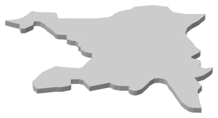 Map of Aargau, a province of Swizerland.