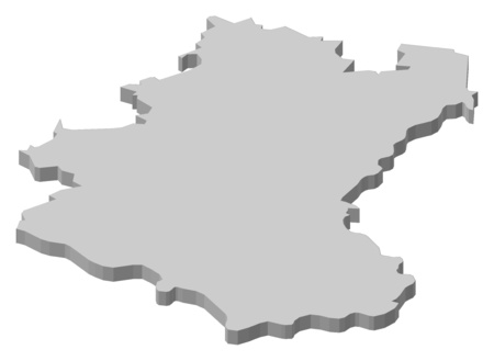 wallonie: Map of Luxembourg, a province of Belgium. Illustration