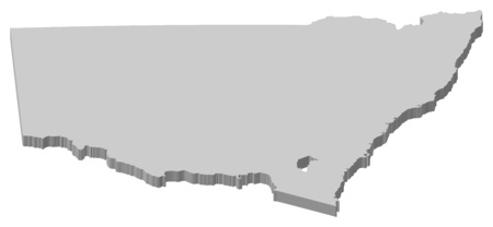 australie: Map of New South Wales, a province of Australia.
