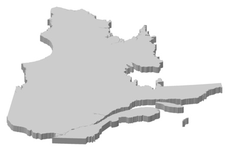 Map of Quebec, a province of Canada.