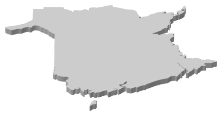 nb: Map of New Brunswick, a province of Canada.
