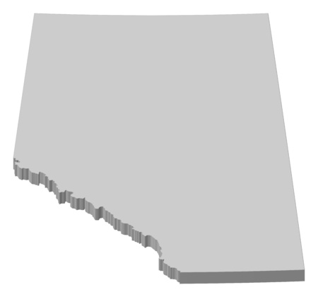 province: Map of Alberta, a province of Canada.