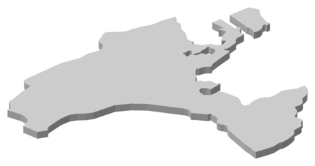 Map of Vaud, a province of Swizerland. Illustration