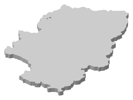 Map Of Aragon A Province Of Spain Royalty Free Cliparts Vectors
