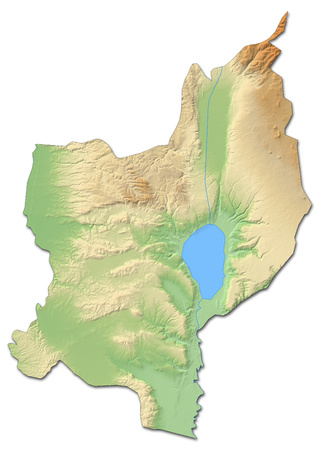 Relief map of Northern District, a province of Israel, with shaded relief. Stock Photo