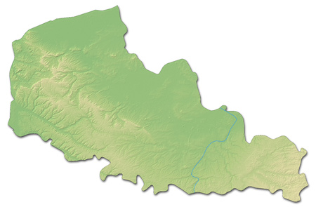 pas: Relief map of Nord-Pas-de-Calais, a province of France, with shaded relief. Stock Photo