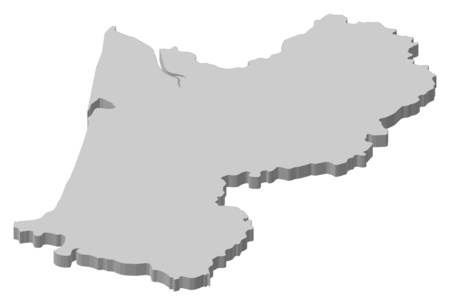 aquitaine: Map of Aquitaine, a province of France.