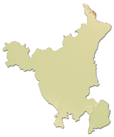 haryana: Relief map of Haryana, a province of India, with shaded relief. Stock Photo