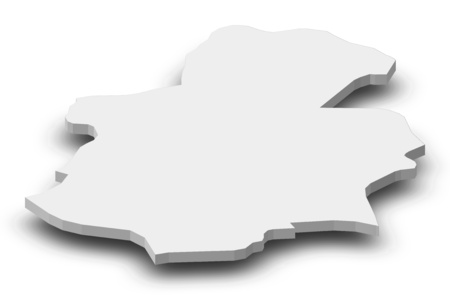 wallonie: Map of Luxembourg, a province of Luxembourg, as a gray piece with shadow.