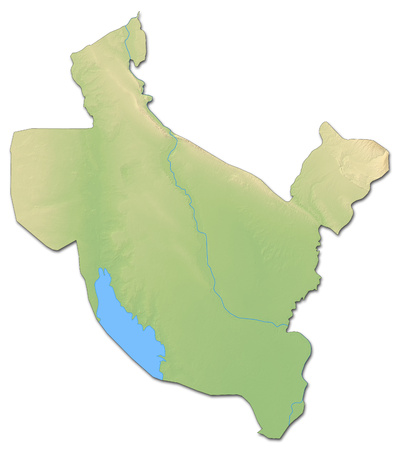 din: Relief map of Salah ad Din, a province of Iraq, with shaded relief.