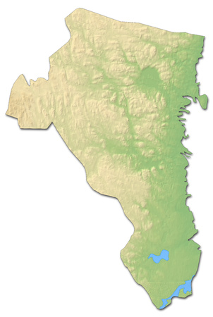 sverige: Relief map of G?vleborg County, a province of Sweden, with shaded relief. Stock Photo