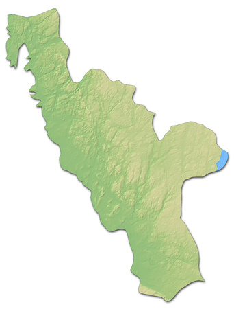 Relief map of Halland County, a province of Sweden, with shaded relief.