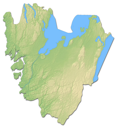 Relief map of V?stra G?taland County, a province of Sweden, with shaded relief.