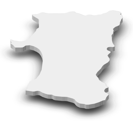 akita: Map of Akita, a province of Japan, as a gray piece with shadow.