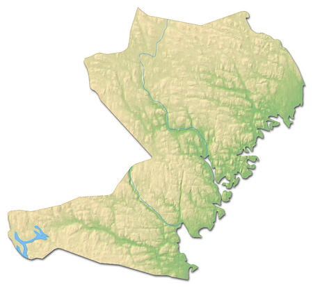 Relief map of V?sternorrland County, a province of Sweden, with shaded relief.