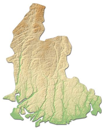 Relief map of Vest-Agder, a province of Norway, with shaded relief.