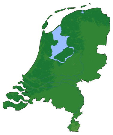 map of netherlands: Relief map of Netherlands with shaded relief.