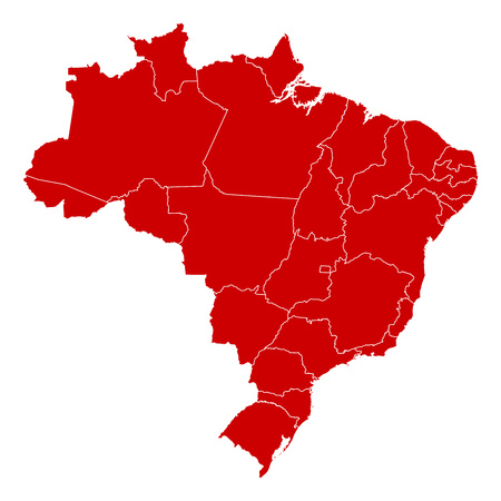Map of Brazil in black with the provinces.